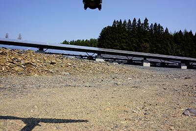 離陸前の機体、テスト撮影